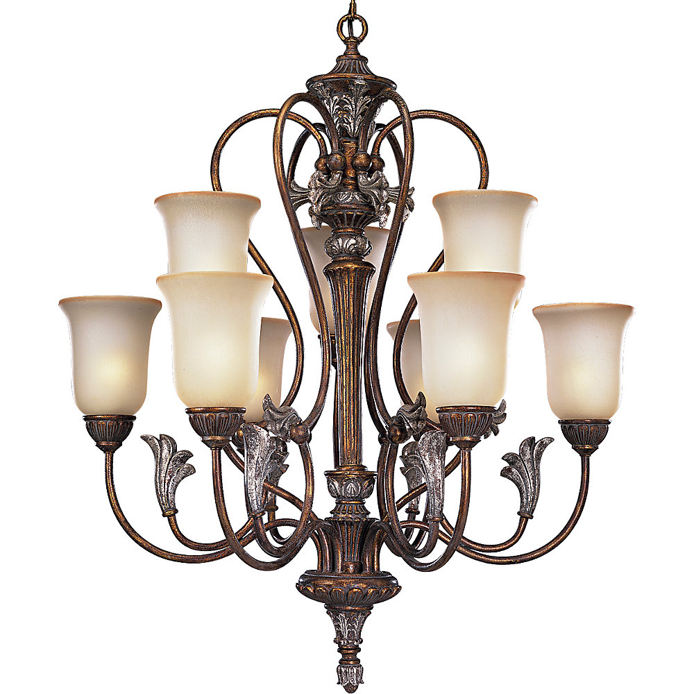 Carmel Collection Tuscany Crackle 9-light Chandelier