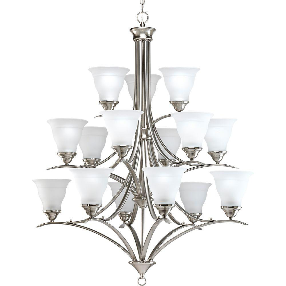 Trinity Collection Brushed Nickel 15-light Chandelier