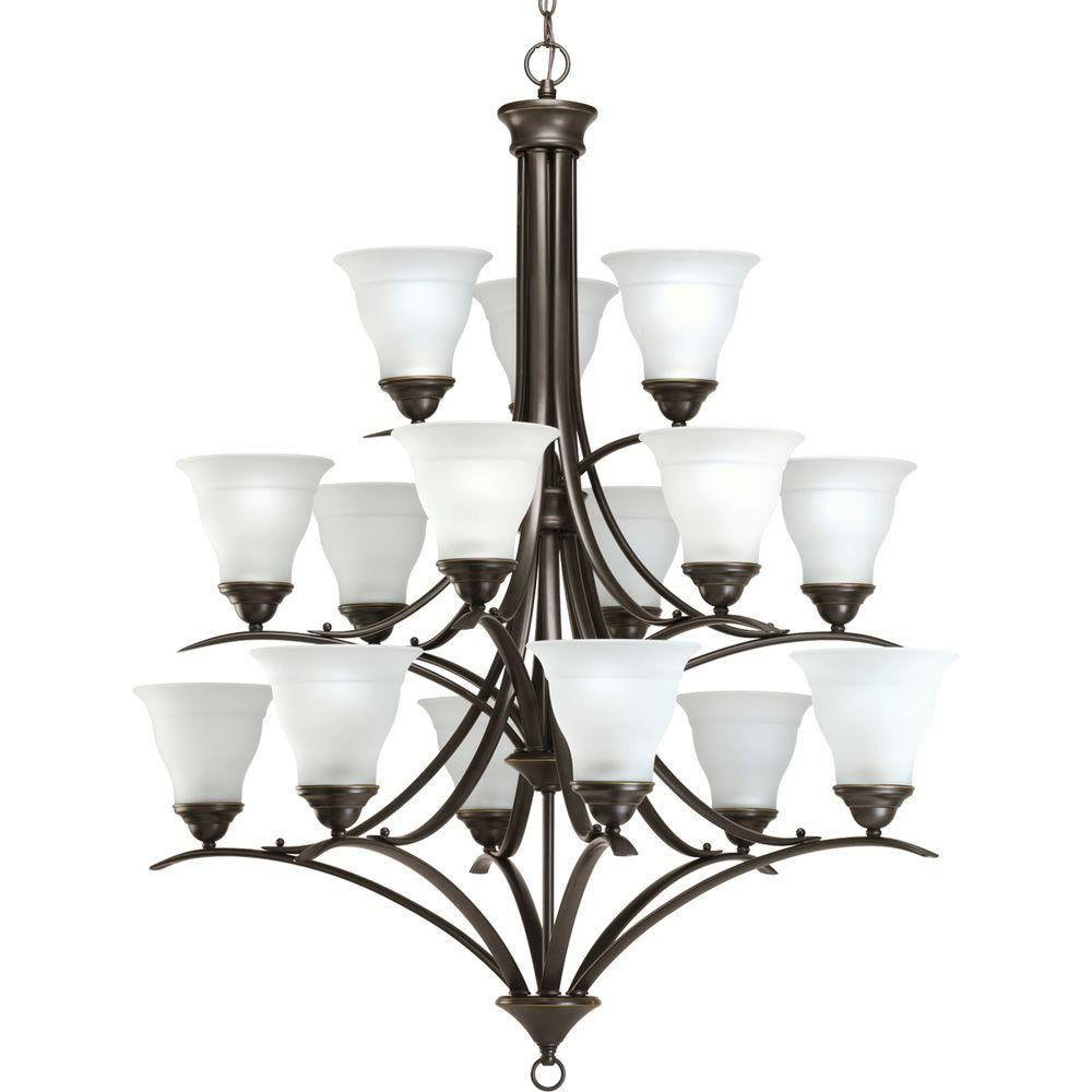 Trinity Collection Antique Bronze 15-light Chandelier