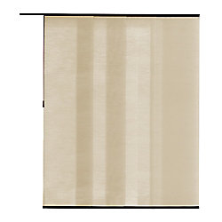 Home Decorators Collection Panneau en tissu, Manhattan beige, 55 cm L x 213 cm H (Largeur réelle 55 cm)