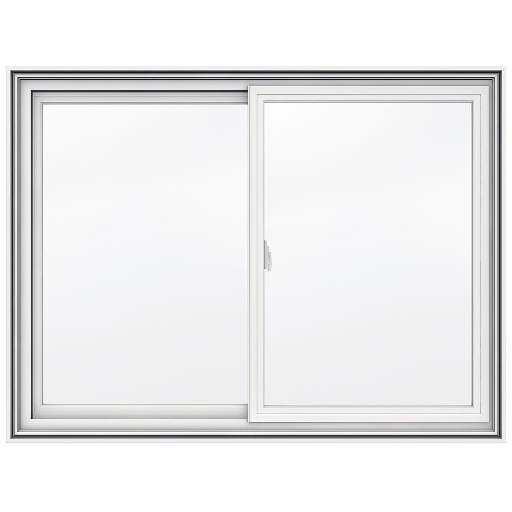 5000 SERIES Vinyl Double Sliding Window 48x36, 4 9/16 Inch Frame
