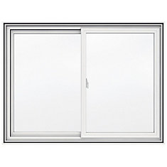 48-inch x 36-inch 5000 Series Vinyl Double Sliding Window with 4 9/16-inch Frame