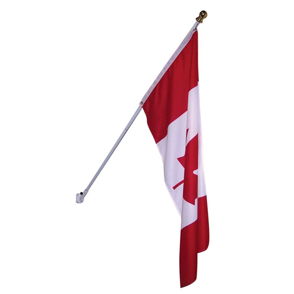 6 Feet Spinning Flagpole Kit With Canadian Flag