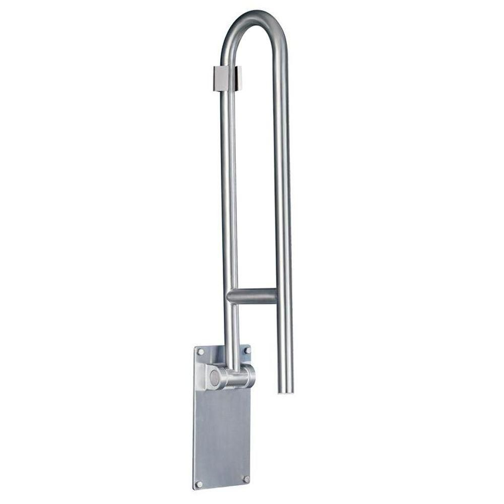 30 Inch Flip-Up Grab Bar - Without Paper Holder in Stainless