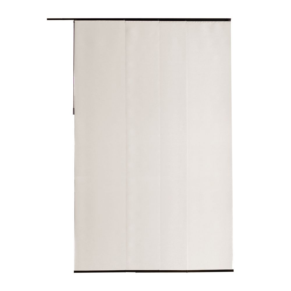 21.5x106 Vintage Sheer Brilliant White Fabric Panel (Actual width 21.5 Inch)