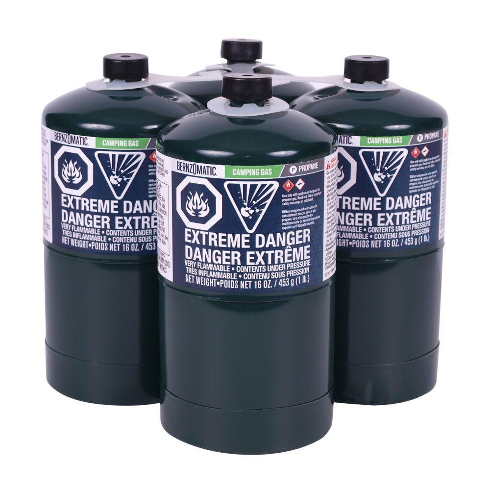 Bernzomatic Propane Cylinder, 16 Oz (4-pack)