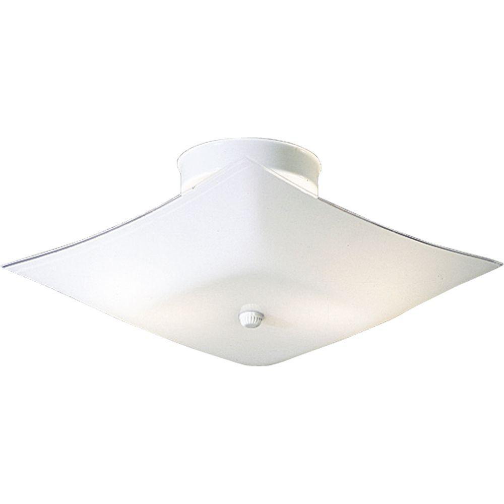 progress lighting white 2 light flush mount the home