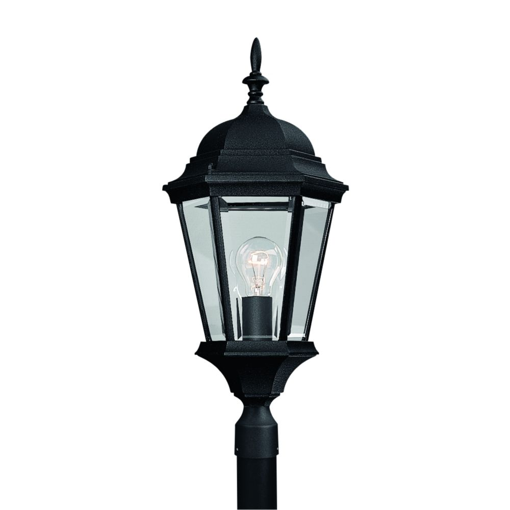 Welbourne Collection Textured Black 1-light Post Lantern