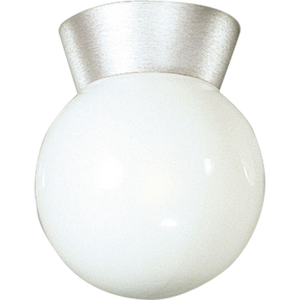 Progress Lighting Satin Aluminium 1-light Outdoor Flush mount