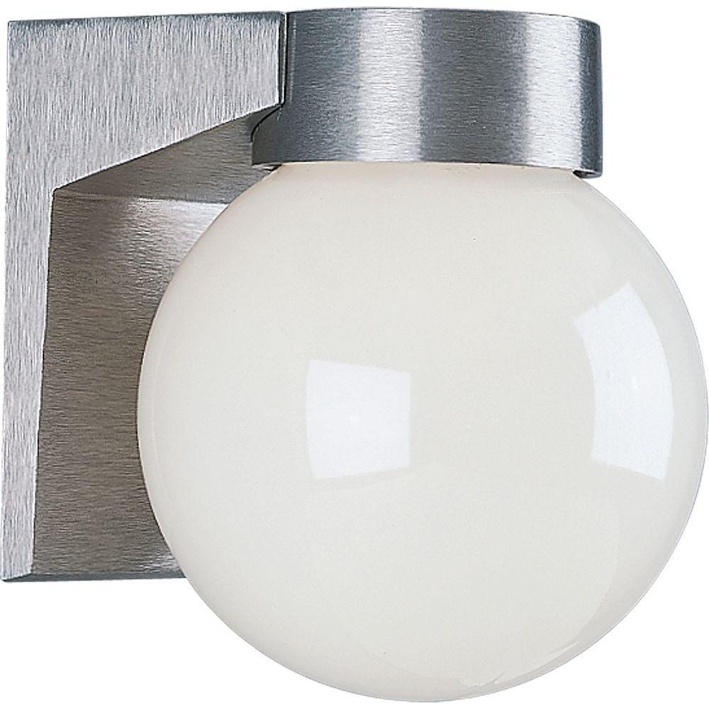 Satin Aluminium 1-light Wall Lantern