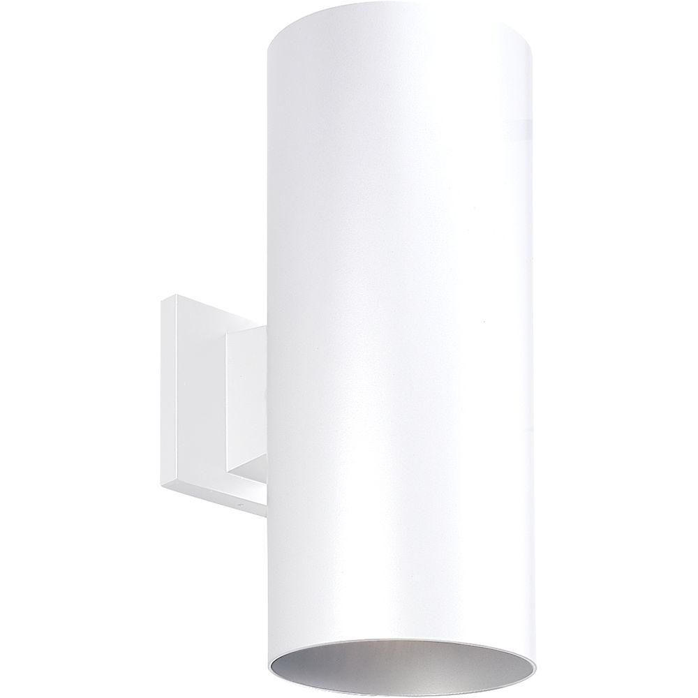 White 2-light Wall Lantern