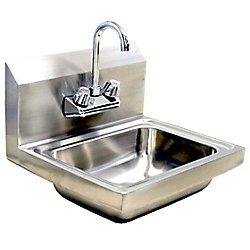Encore Plumbing Products Wall-Mount Hand Sink with Faucet and Waste