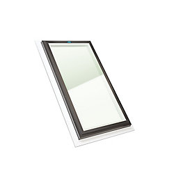 Columbia Skylights 2ft x 4ft Fixed Self Flashing LoE3 Double Glazed i89 Glass Skylight with Brown Frame