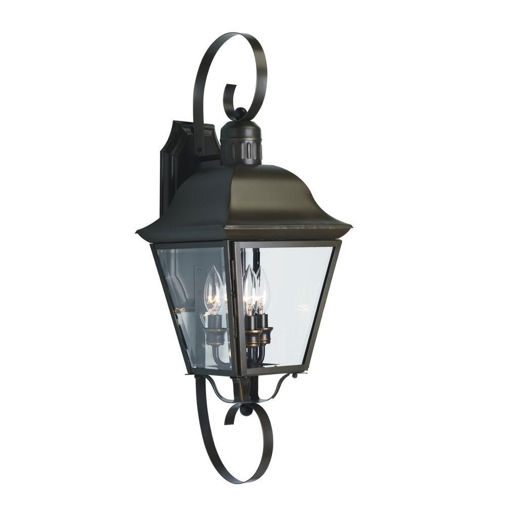 Andover Collection Antique Bronze 3-light Wall Lantern