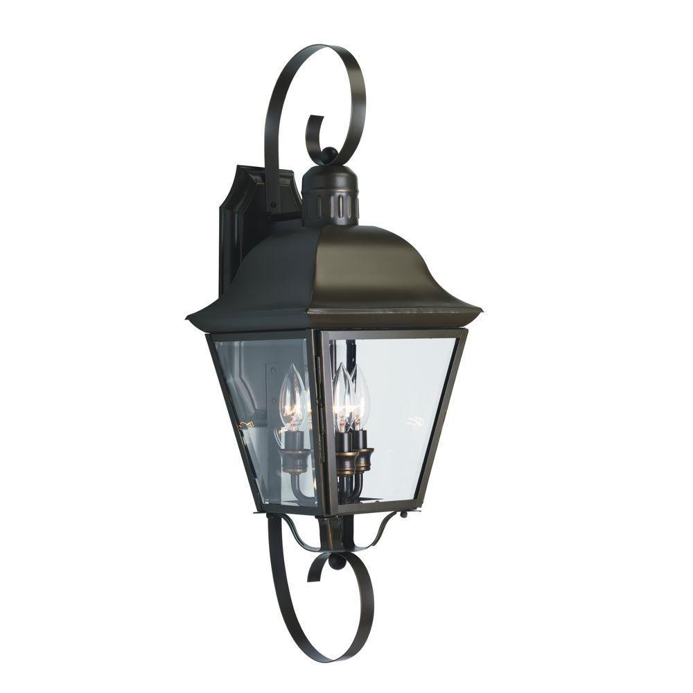 Andover Collection Antique Bronze 3-light Wall Lantern