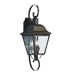 Progress Lighting Andover Collection Antique Bronze 3-light Wall Lantern