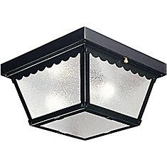 Black 2-light Outdoor Flush mount