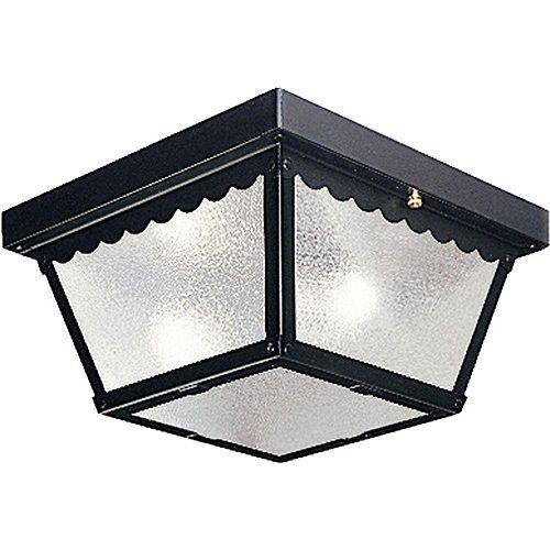 Progress Lighting Black 2-light Outdoor Flush mount