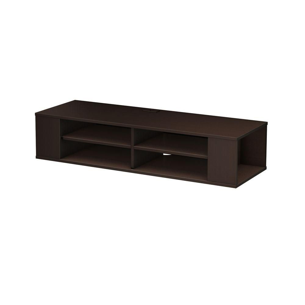 south shore city life wall mounted media console in. Black Bedroom Furniture Sets. Home Design Ideas