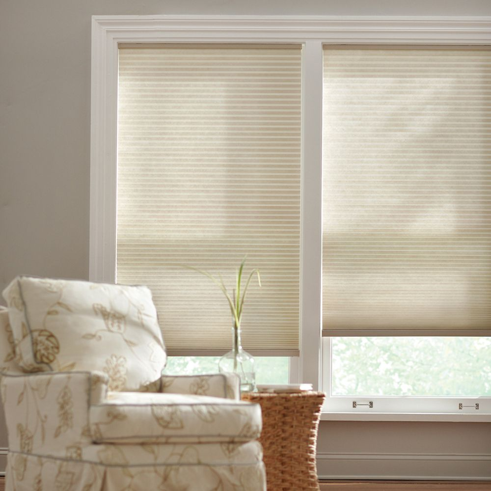 Cordless Light Filtering Cellular Shade Natural 18-inch x 48-inch (Actual width 17.625-inch)