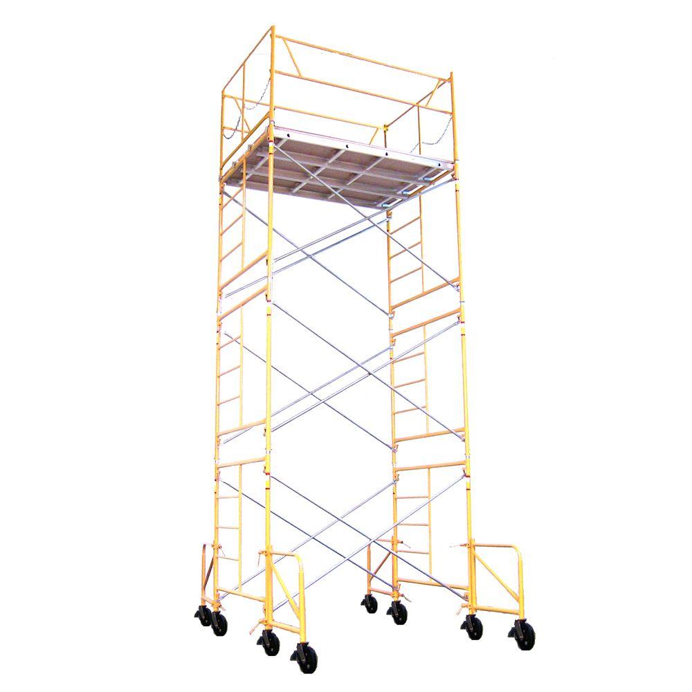 Scaffold Tower with Casters -15 Feet x 7 Feet x 5 Feet