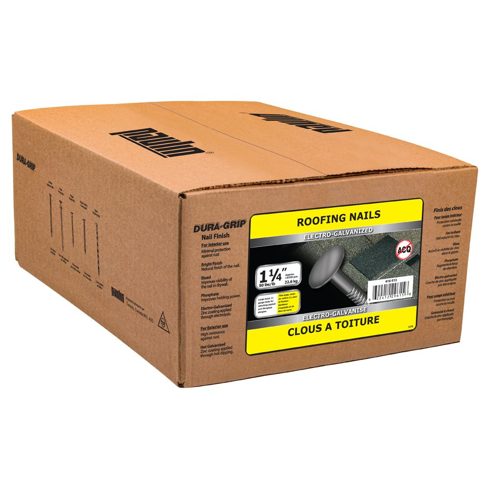 1-1/4 Inch. Roofing Elec Galv 11ga 50lbs