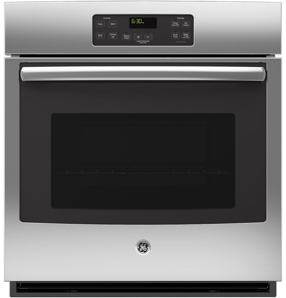 GE 27-inch Single Electric Built-in Oven Manual Cleaning in Stainless Steel