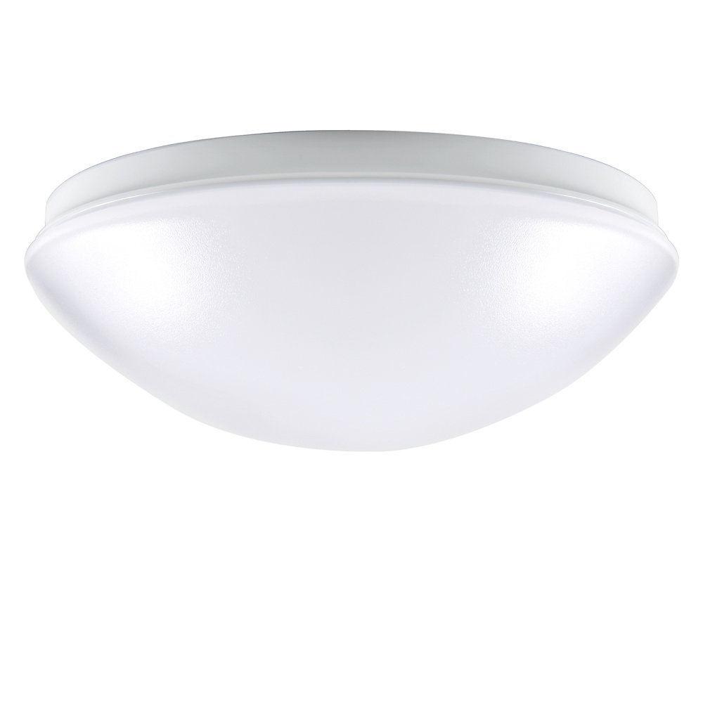 Low-Profile Round Puff Integrated LED Flushmount Light Fixture in White -  ENERGY STAR®