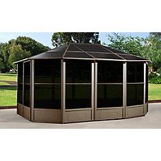 Korado 12 ft. x 15 ft. Octogonal Solarium with 2 Sliding Doors in Caramel