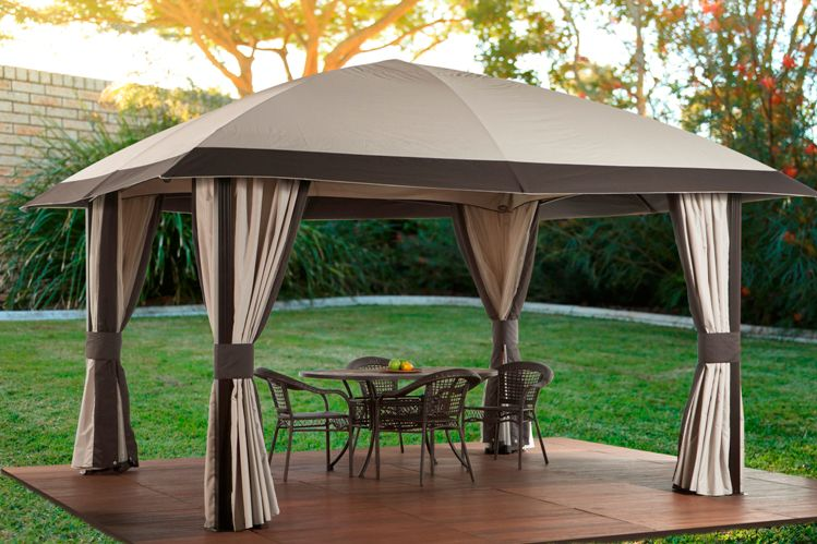 Sojag Piati 12 ft. x 14 ft. Sun Shelter with Flex Roof in Beige/Brown