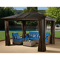 Cova 10 ft. x 12 ft. Sun Shelter in Mocha