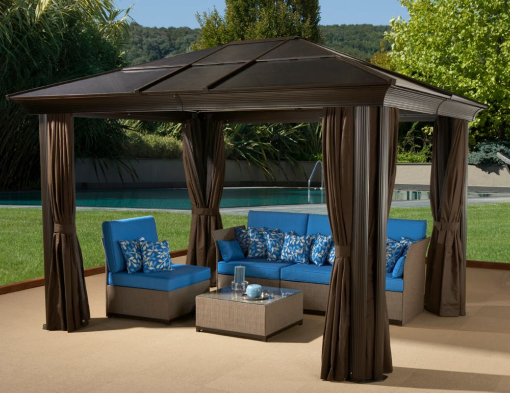 Sojag Cova 10 ft. x 12 ft. Sun Shelter in Mocha
