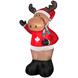 Home Accents Holiday 7 ft. Airblown Inflatable Moose Outdoor Decoration