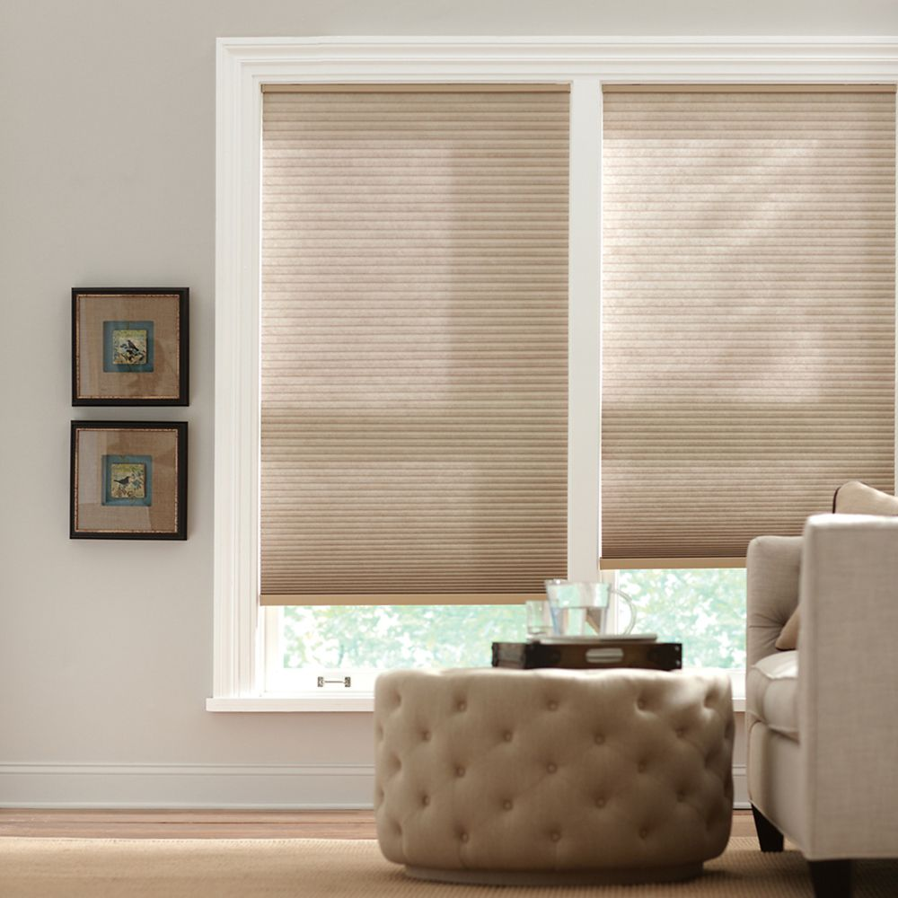 Home Decorators Collection Cordless Light Filtering Cellular Shade Nutmeg 18-inch x 48-inch (Actual width 17.625-inch)