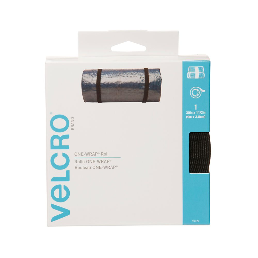 Velcro Bande de force 30Ft Noir