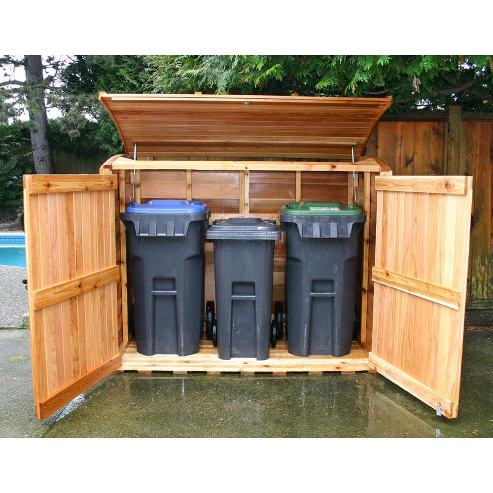 Oscar Waste Management Shed - (6 Ft. x 3 Ft.)