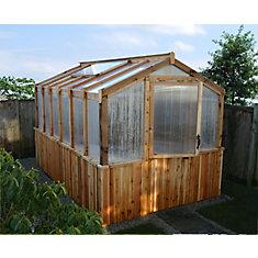 8 ft. x 12 ft. Cedar Greenhouse