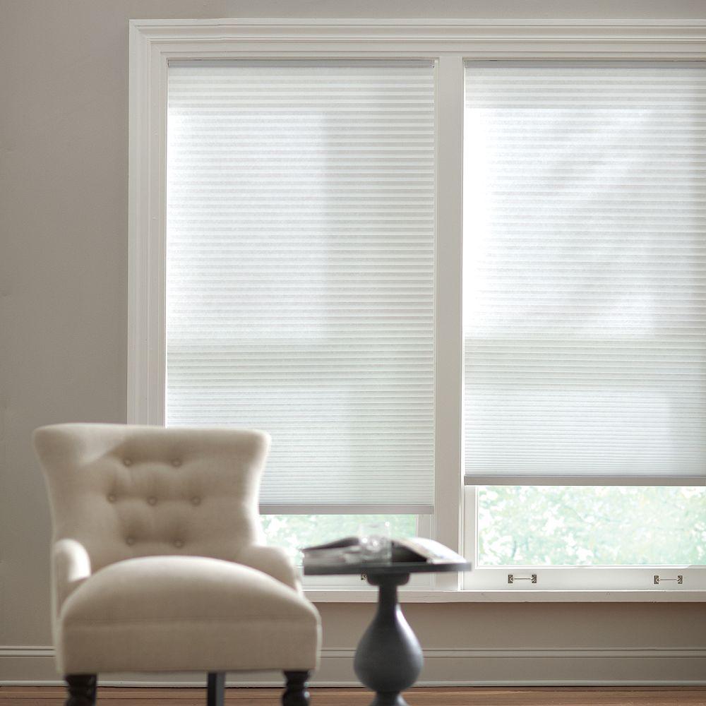 Home Decorators Collection Store alvéolaire filtrant la lumière sans cordon poudrerie 1,82 m L x 1,82 m H