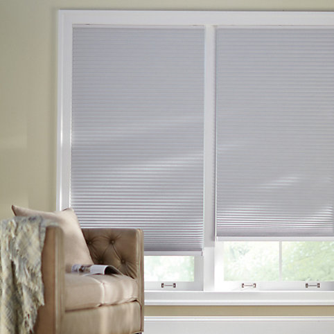 Home decorators collection cordless blackout cellular shade in white 48 inch l x 47 63 inch w the home depot canada