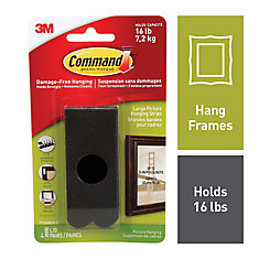 Large Picture Hanging Strips, 17206BLK-C, black