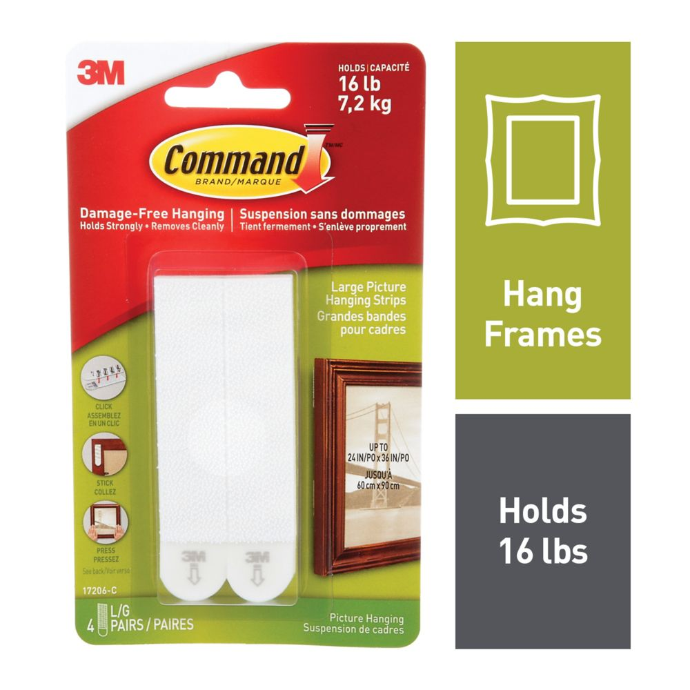 Command Large Picture Hanging Strips, 17206-C