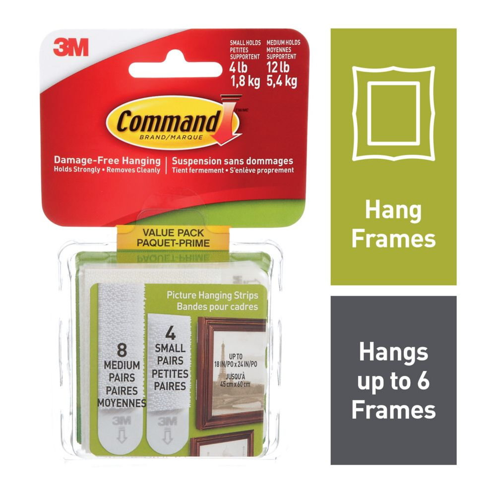 Command Small & Medium Picture Hanging