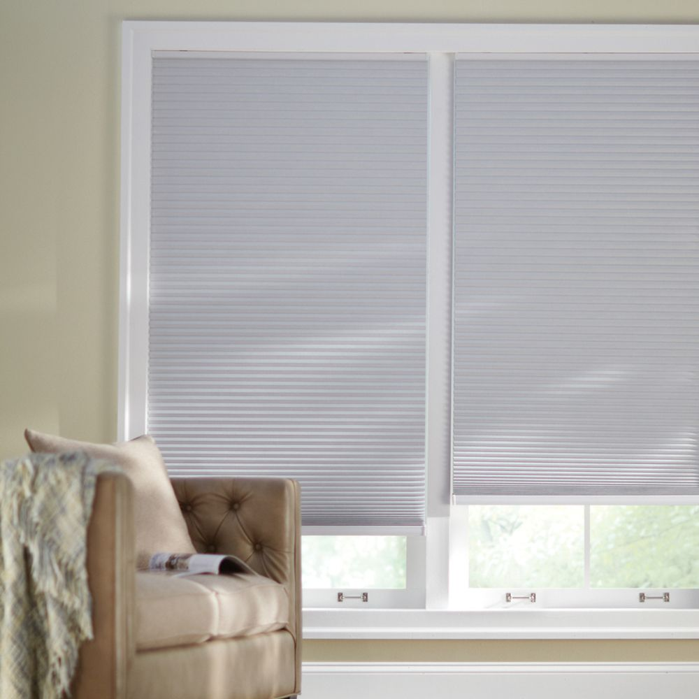 60x72 Shadow White Cordless Blackout Cellular Shade (Actual width 59.625 Inch)