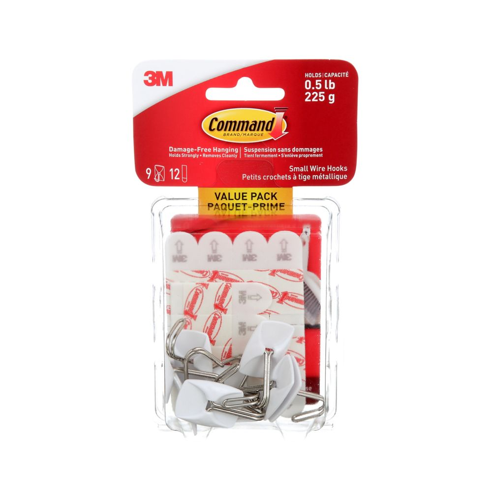 Command Small Wire Hooks Value Pack, 17067C-VP, clear