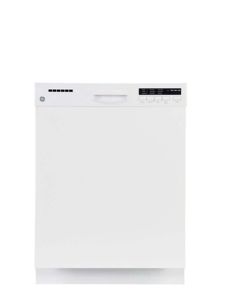 24-inch Built-In Dishwasher with Stainless Steel Tub in White