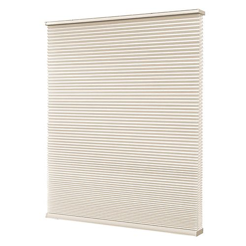 Home Decorators Collection Store à double alvéole sans cordon, Blanc Fromage, 46cmx122cm (Largeur réelle 45cm)