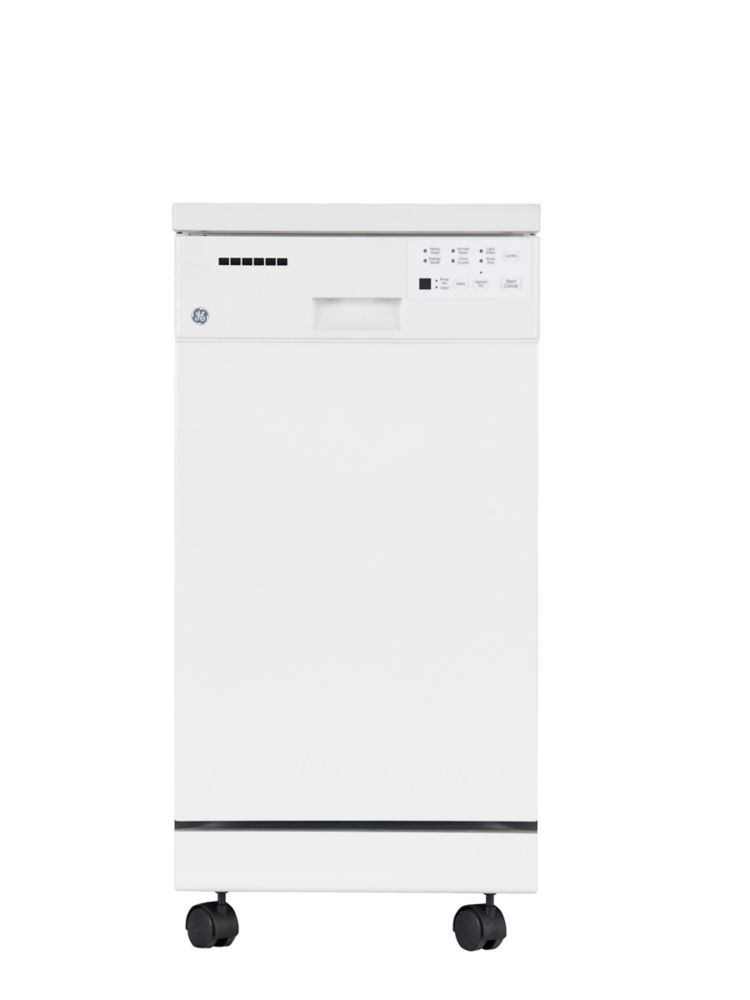 Lave-vaisselle 18 po portatif avec cuve courte en acier inoxidable - GSC1800VWW