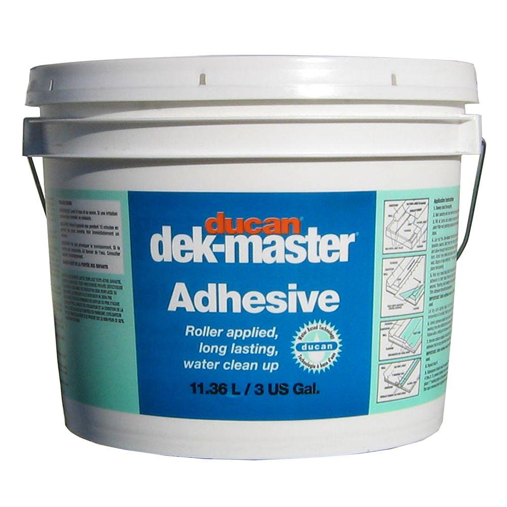 dek-master Regular Adhesive is a waterbased slow drying adhesive used for 45 mil grade vinyl or l...