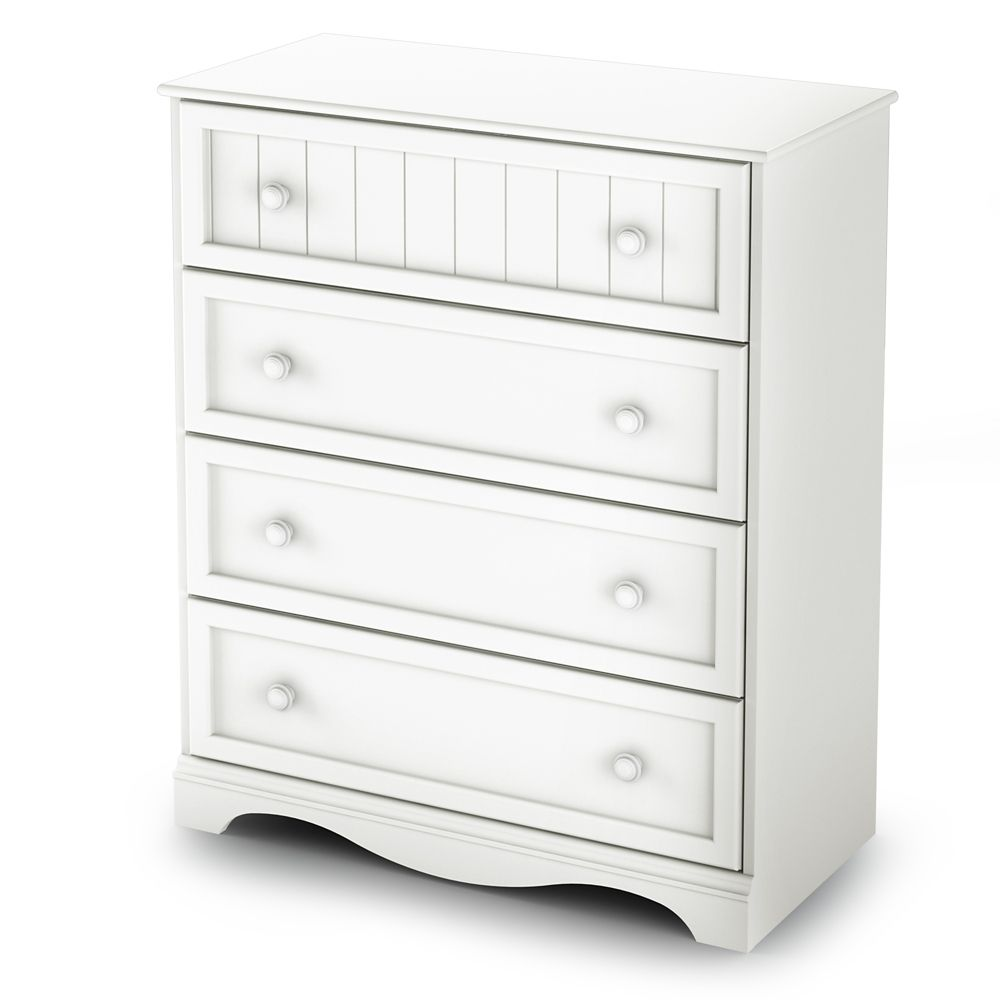 South Shore Sweet lullaby Collection Commode 4 tiroirs Blanc Solide
