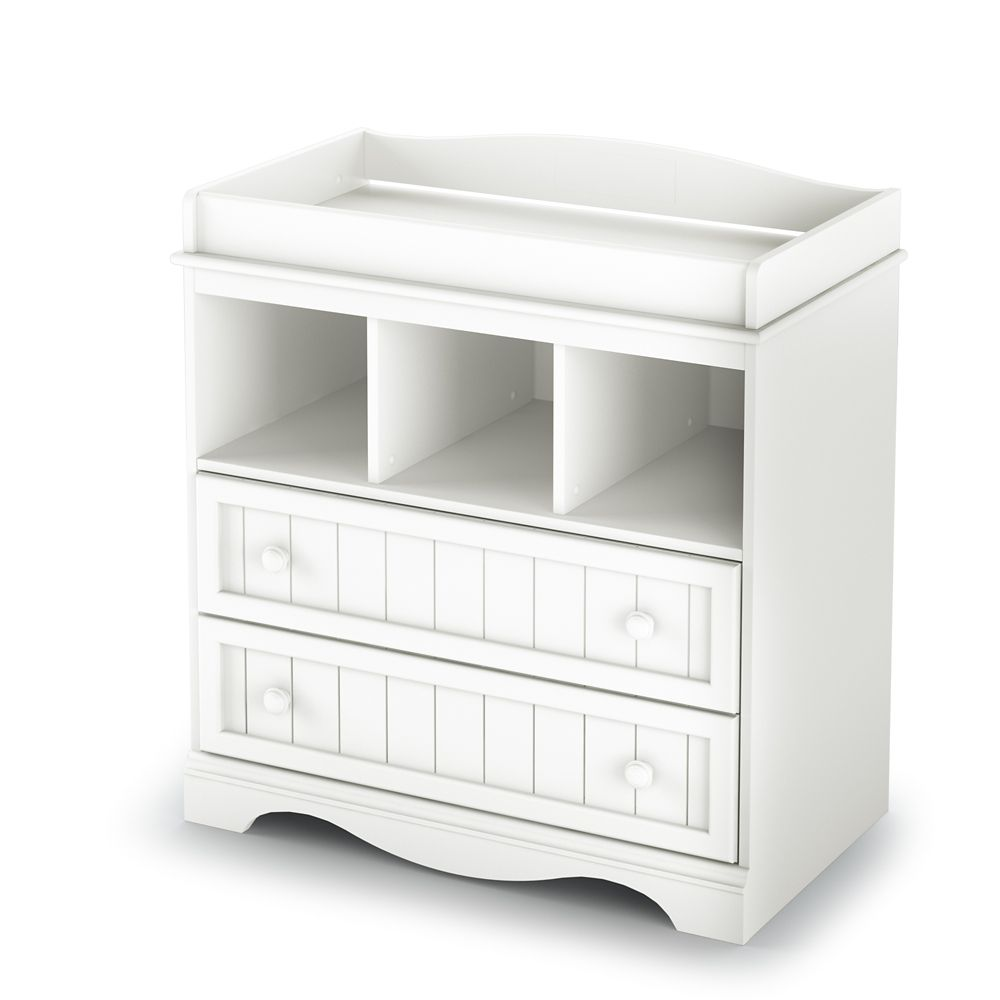 South Shore Sweet lullaby Collection Table à Langer Blanc Solide